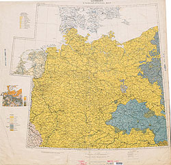 Ethnographical Map Eastern Europe Germany 1918